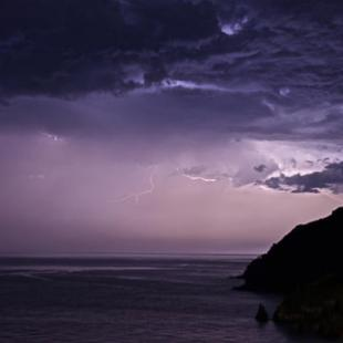 Storm in the Aegean sea